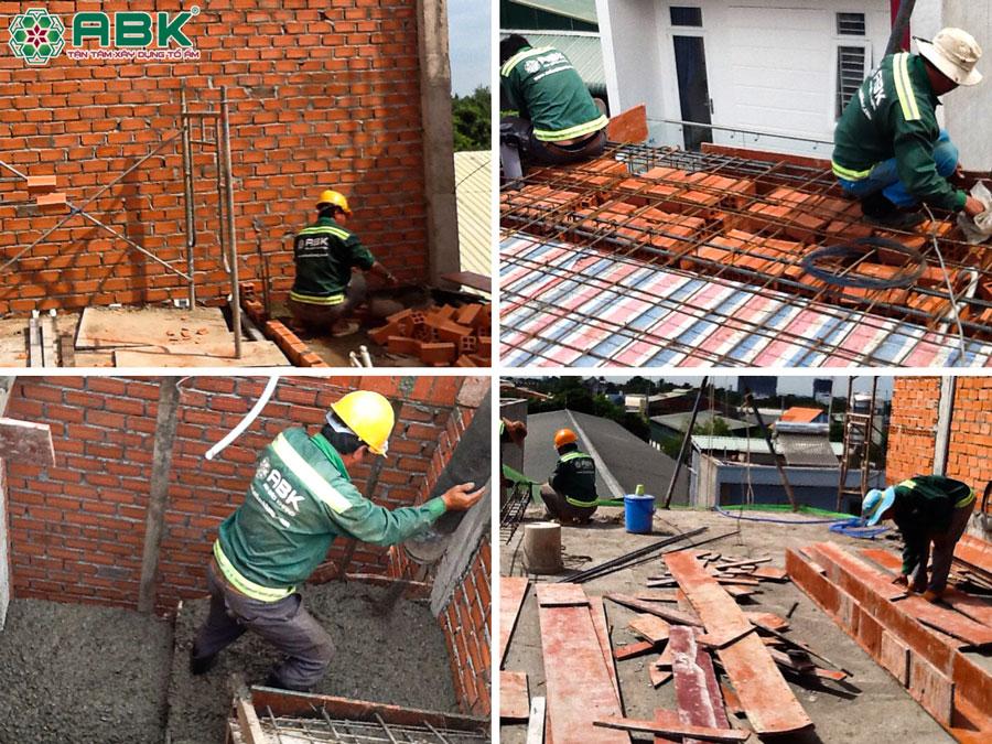 Thi công dựng xây tường đổ sàn bê tông