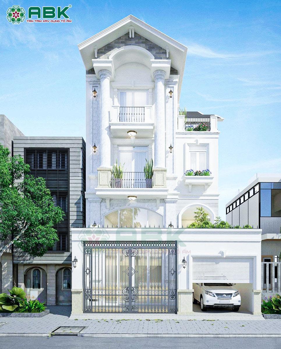 Mẫu thiết kế biệt thự 3 tầng tân cổ điển diện tích 8x17m